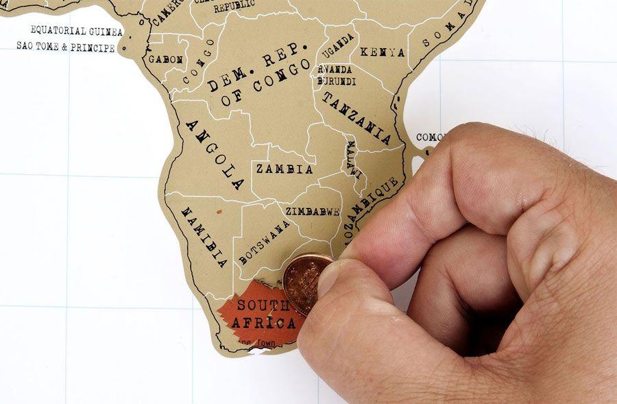 Mapa para rascar los países que has visitado.