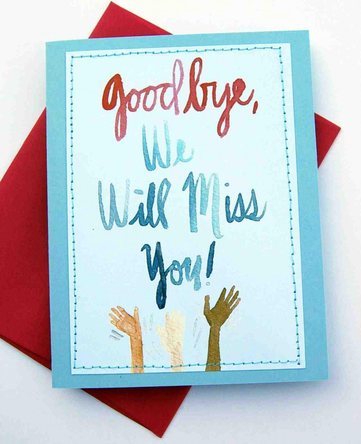 Farewell Card Message For Boss in 4  Card design handmade