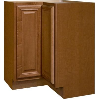 28.375x34.5 in. Harvest Lazy Susan Corner Base Kitchen Cabinet ...
