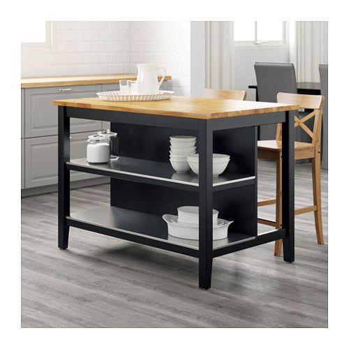 STENSTORP Kücheninsel, schwarzbraun, Eiche | Küche loft, Küche insel ...