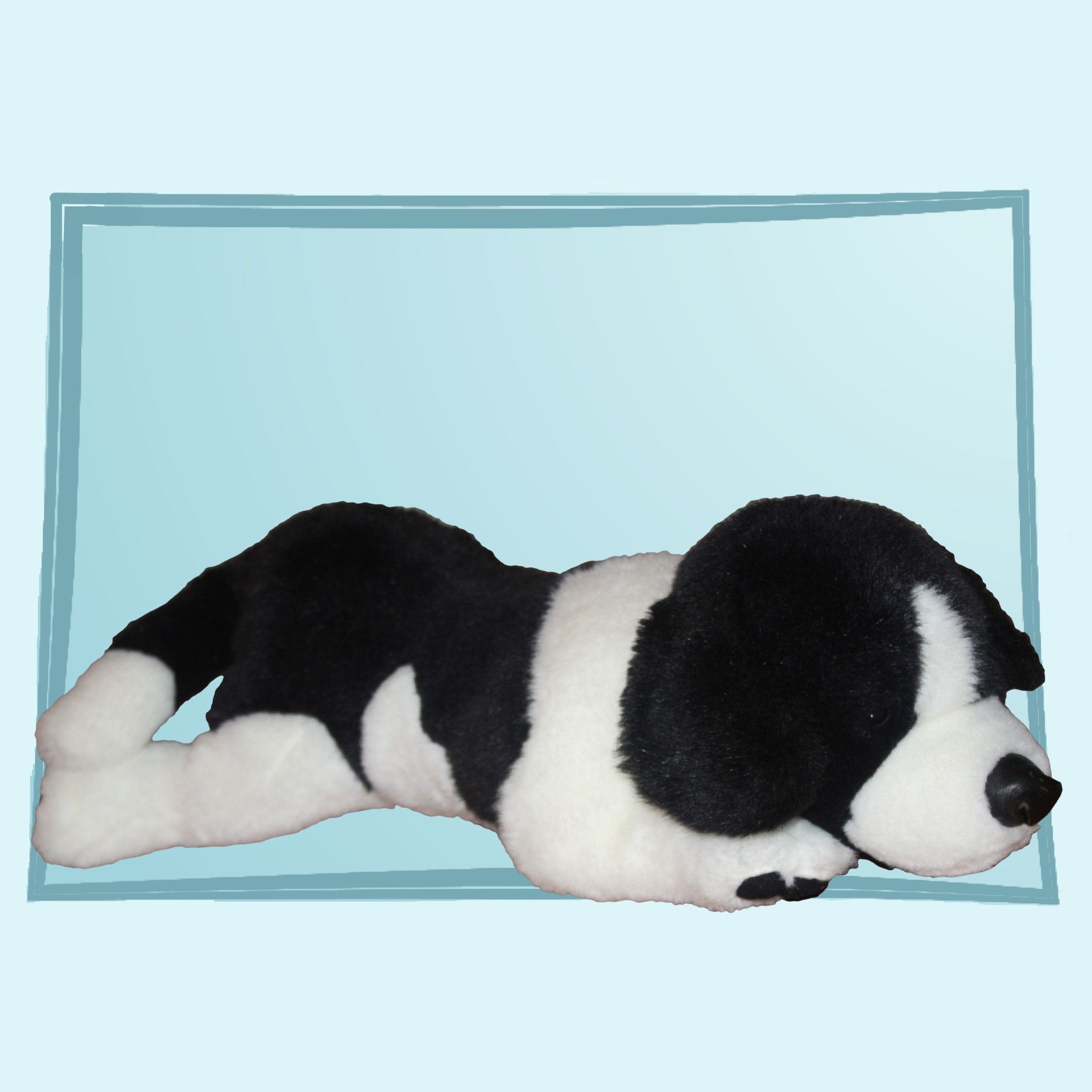 1989 Commonweath for Target Black & White Puppy Dog