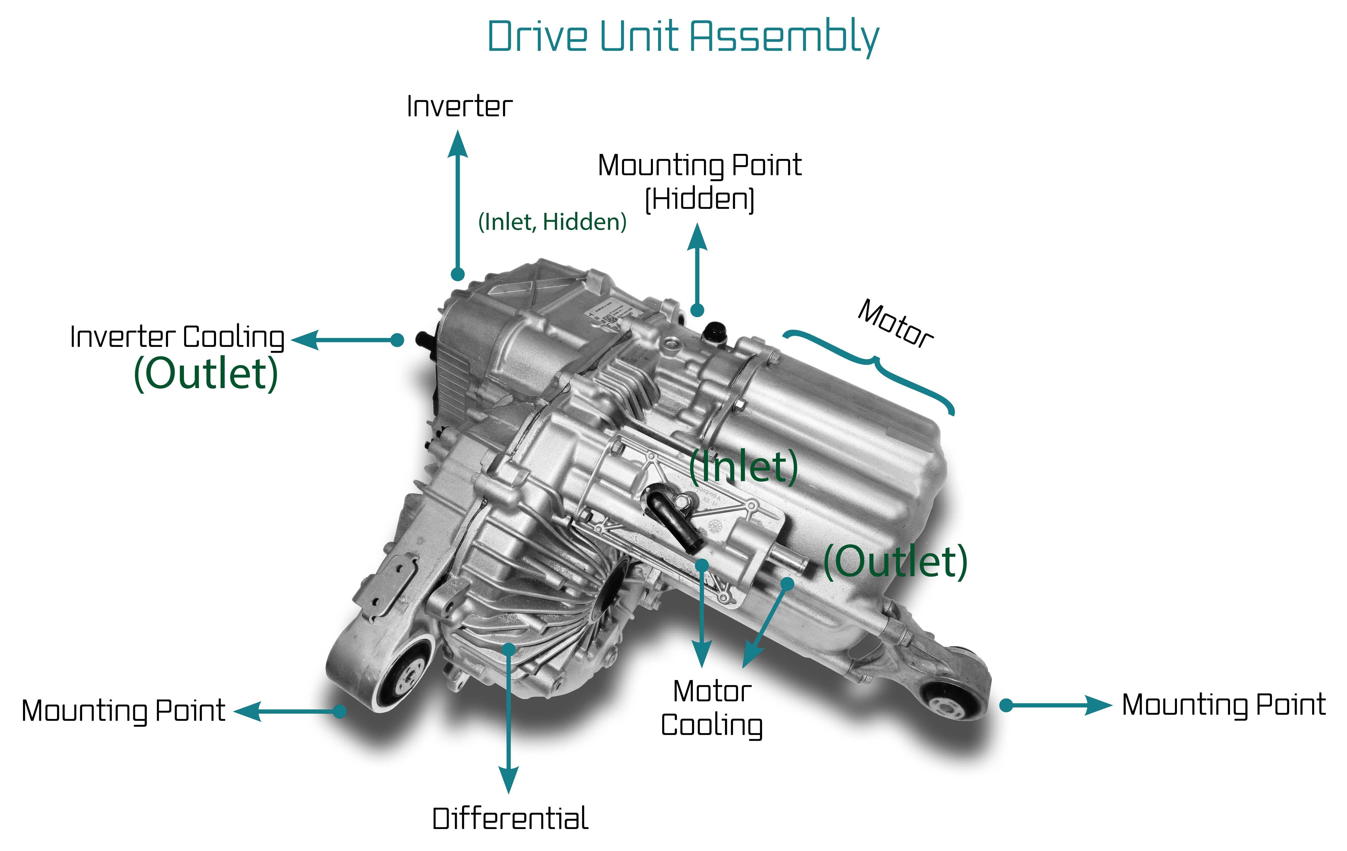 Tesla Rear Drive Unit Labeled Delorean, The unit, Tesla