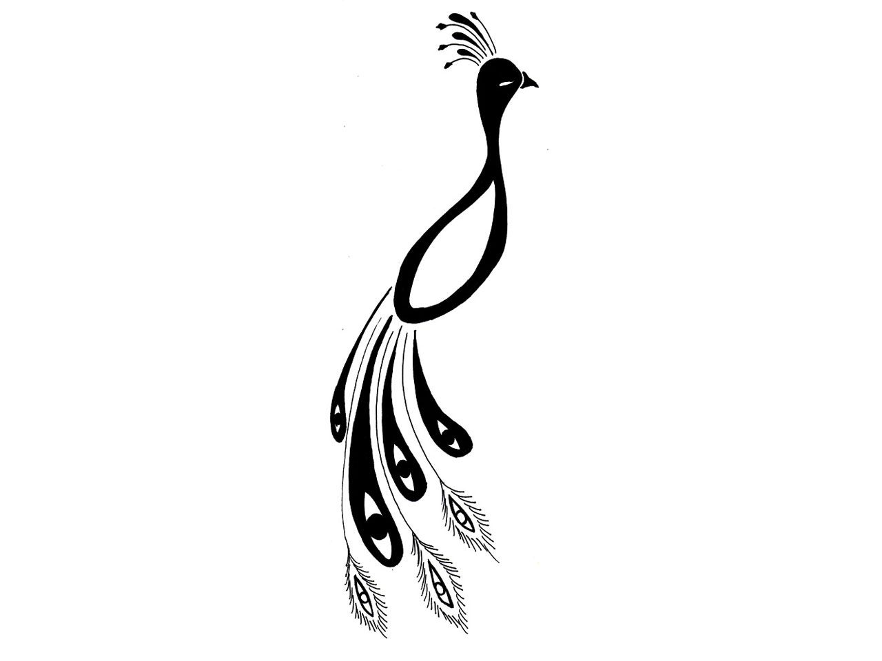 Portrait Of Peacock Tattoo Clipart Panda