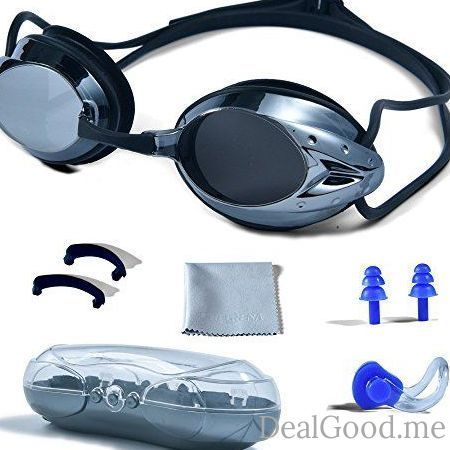 5435a281ad4f Swimming Goggles PHELRENA Professional Swim Goggles Anti Fog UV Protection  No Leaking for Adult Men Women