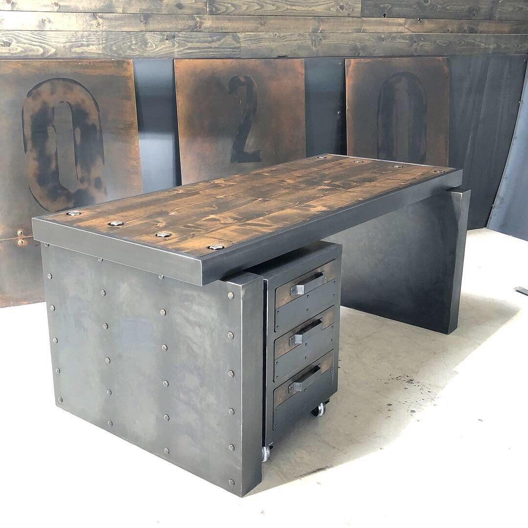 Ironcladvintageindus Shared A New Photo On Handmade Furniture Design Bar Flooring Industrial Office Furniture