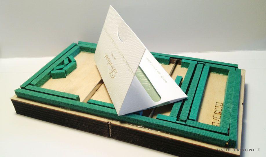 Card-holder for Dordoni. (www.dordoni.it)