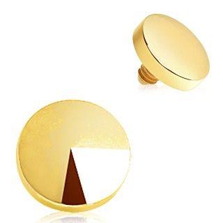 Gold Plated Disc Dermal Top Feminino Accessories Pinterest