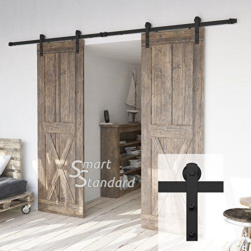 10ft Heavy Duty Double Door Sliding Barn Door Hardware Ki Https Www Amazon Com Dp B07437k6vm Ref Cm Sw R Pi Barn Door Hardware Sliding Barn Door Barn Door