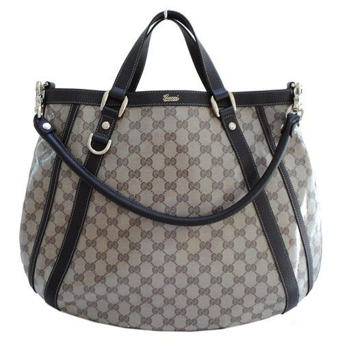 Gucci Beige Crystal Convertible Abbey Tote - Ladies Stylish Handbags... http://ladiesstylish.com/handbags.html #LadiesStylish #Designer #Handbags