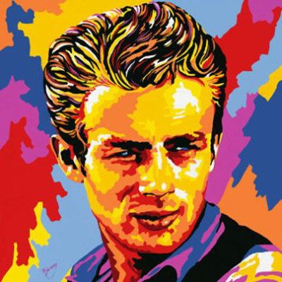 Andy Warhol Pop Art Paintings | Andy Warhol James Dean Pop Art Oil ...