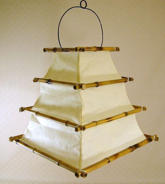 Deckenlampe Bambus Hängelampe Asien Decken Lampe von world-art-online via dawanda.com