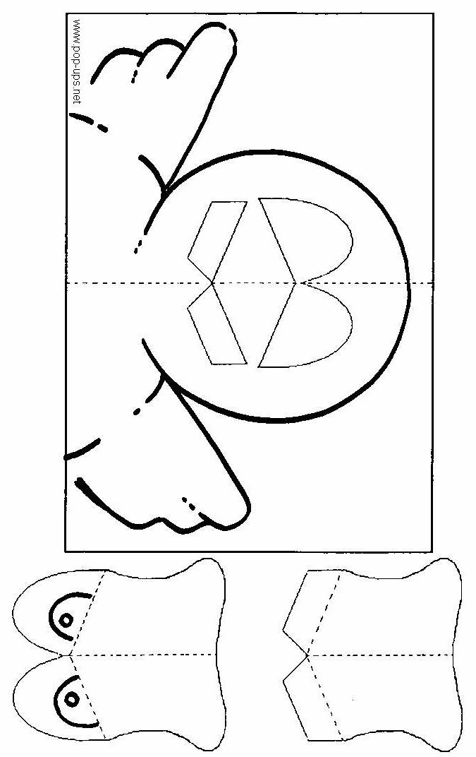 How to make: the little duck's pop-up card - www.pop-ups.net