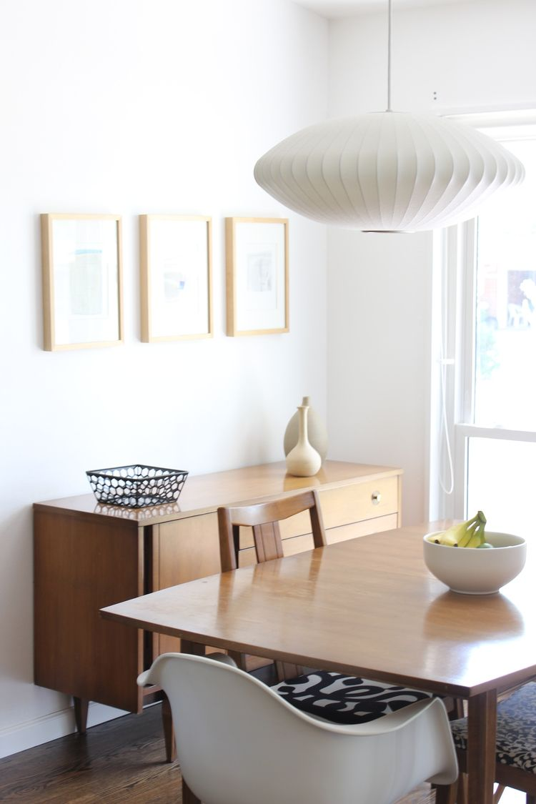 Our House Midcentury Modern In St Louis Part Two George - Mid century modern dining room table