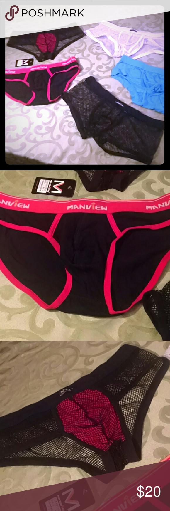 597158752 5 pair XL Mens sexy underwear 1NWT 4NWOT Several pair of sexy men s undies.  NWT