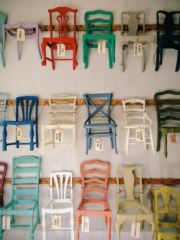 I Want All These Chairs. Maybe Just Put Some Tops On The Ones On The