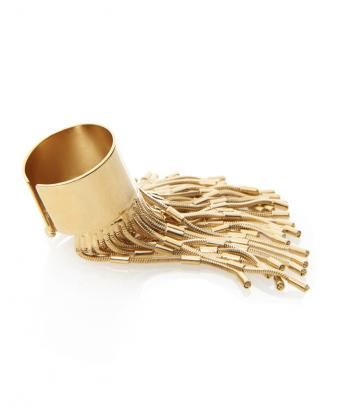 Gold Plated Brass Fringe Ring