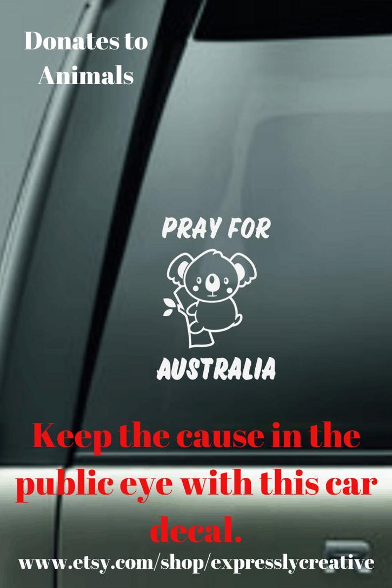 Koala Sticker Fundraiser For Australia Vinyl Car Window Etsy Personalized Teacher Gifts Custom Vinyl Stickers Vinyl Gifts [ 1190 x 794 Pixel ]