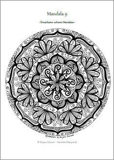 Mandalas Zum Ausdrucken Fur Erwachsene Mandala Ausmalbilder Vorlage 9 Als PDF Kostenlos Download Din