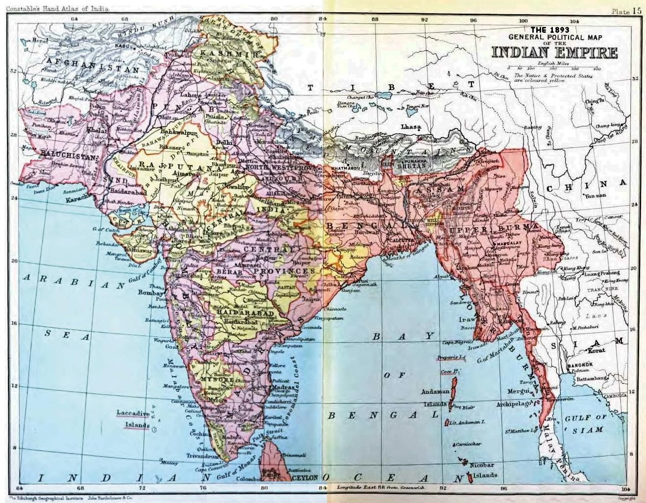 The 1893 General Political Map of the Indian Empire ... Governmet Map Of India Images on nepal india, cities in india, taj mahal india, rivers in india, dharamsala india, kolkata india, mundra india, food in india, mysore india, map southeast asia, kerala india, west bengal india, physical map india, vizag india, goa india, jaisalmer india, shimla india, delhi india, chennai india, ganges river india,