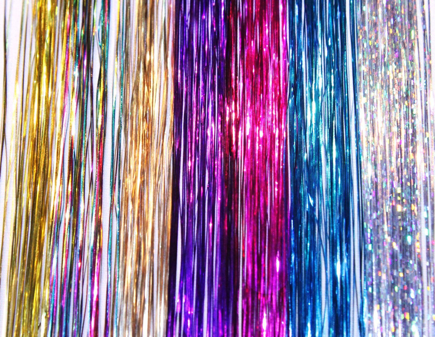Sparkle Tinsel Hair Extensions Pinterest Hair Extensions And