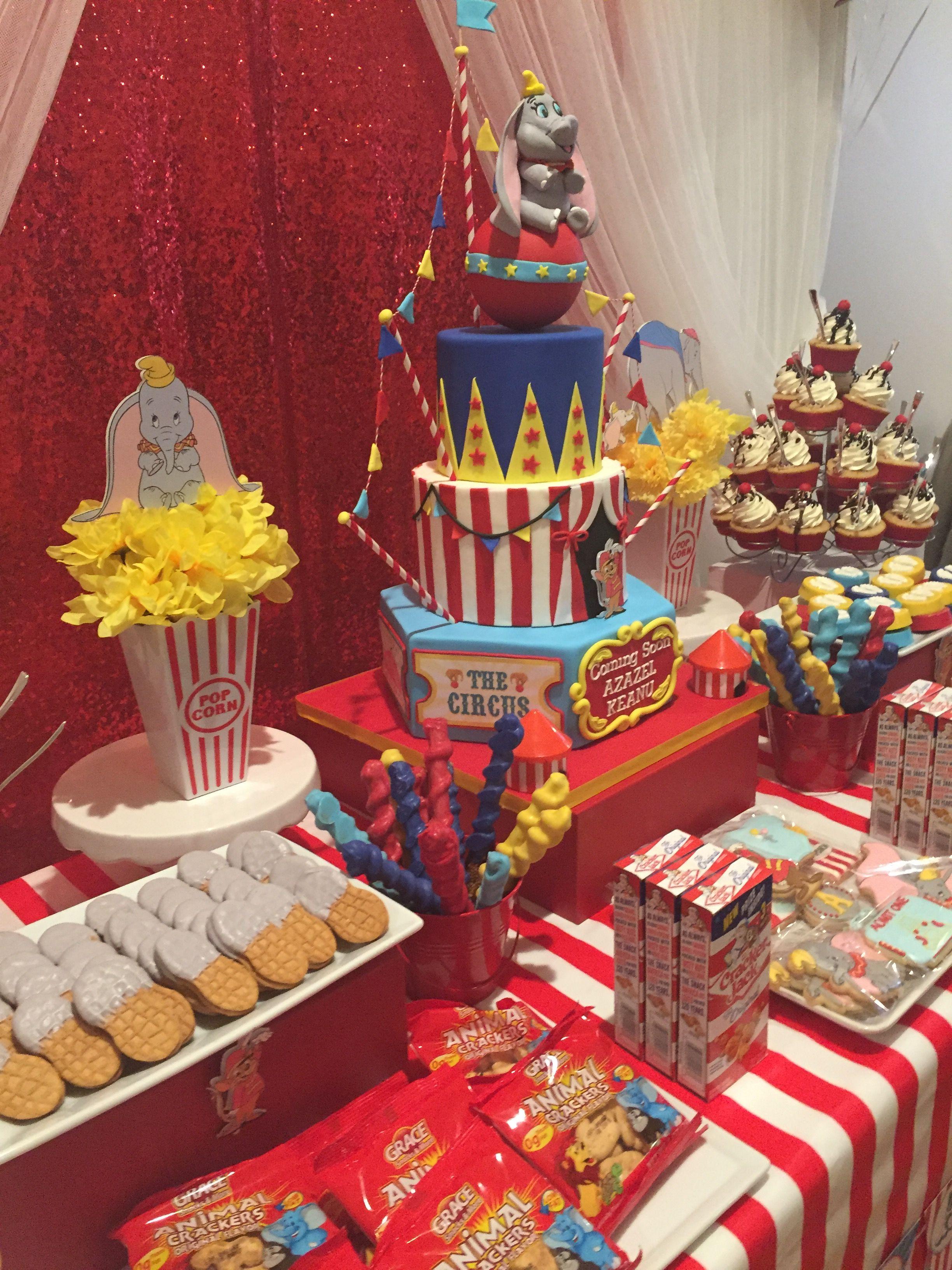 Dumbo Baby Shower Sweets Table Dumbo Birthday Party Carnival Baby Showers Dumbo Baby Shower