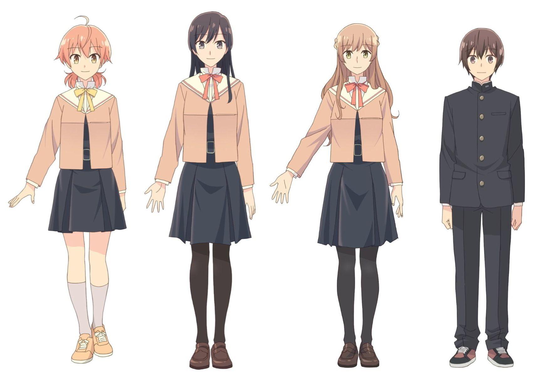 "Char-disi main characters to the series ""Yagate Kimi ni Naru"". The premiere in October. | Yuri anime, Anime films, Kawaii anime"
