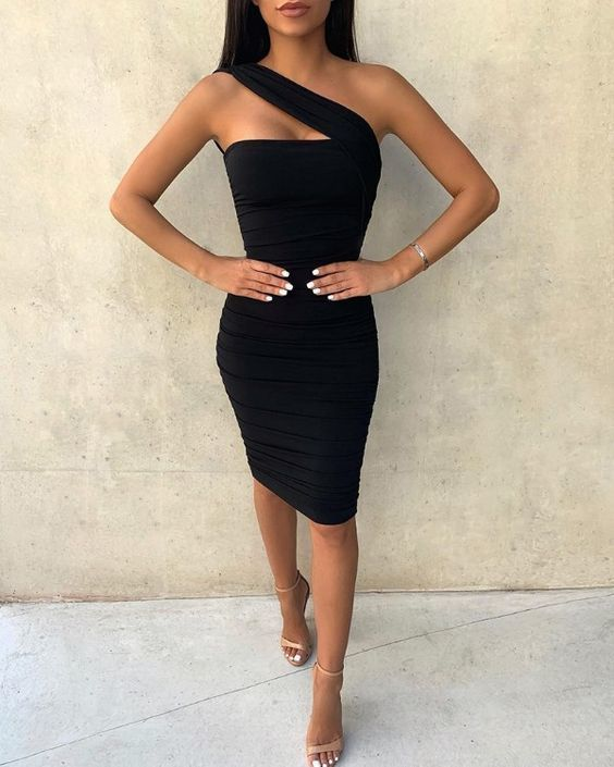Black bodycon dress for homecoming x 2017 city