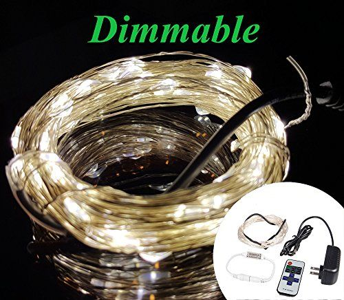 Zzmart Dimmable 12V 50ft 150 Leds String Lights with Wireless Remote