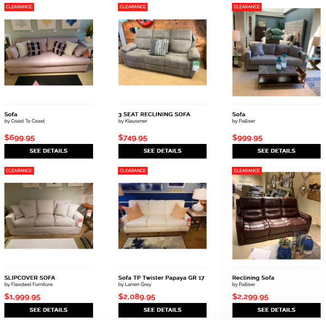 Sofas Starting At 699 95 Up To 75 Off Retail Currently 13 Sofas