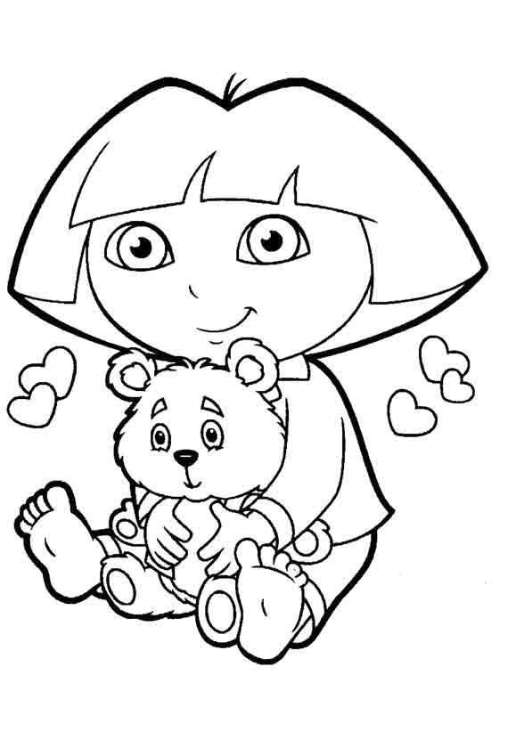 I Have Download Dora Playing Doll Coloring For Kids
