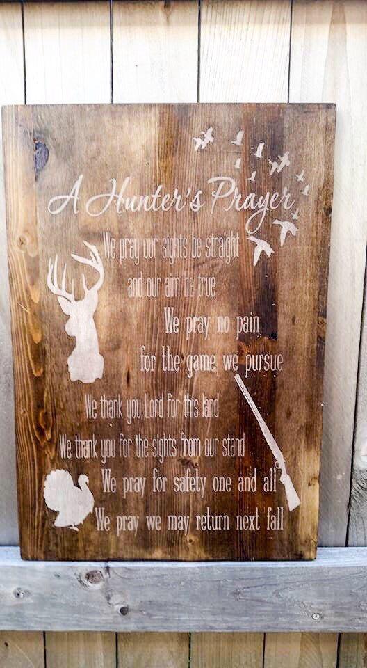 A Hunters Prayer Wood Sign Home Decor