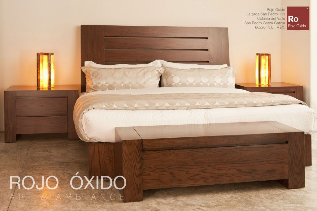 Recamara burma -Cama Ranura -Buro Ranura -muebles de interior - recamaras de madera modernas