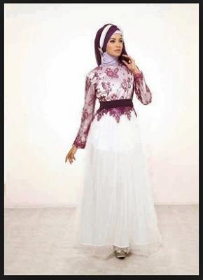20 Gambar Baju Gamis Muslim Brokat Terbaru 2016 Baju Gamis Brokat Biasanya Bukan Baju Dengan Bahan Tunggal Tapi Kombinasi Dengan Bah Muslim Baju Muslim Pesta