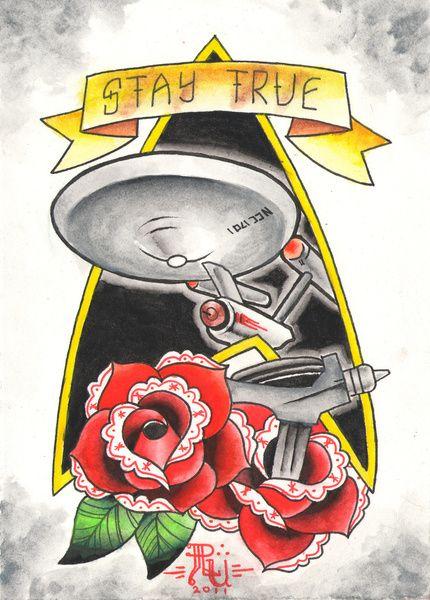 Stay True Star Trek Art Print @K D Eustaquio Mathews your mom should get this! LOL