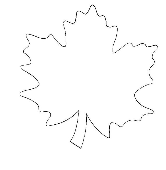 Basteln herbst blatt vorlage kindern aktivitaeten ideen basteln - Herbstblatter deko ...
