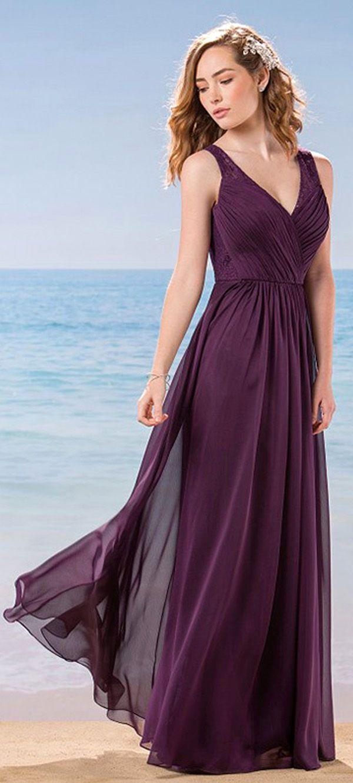 2d5d5df444b Marvelous Lace   Chiffon V-Neck A-Line Bridesmaid Dresses With Pleats