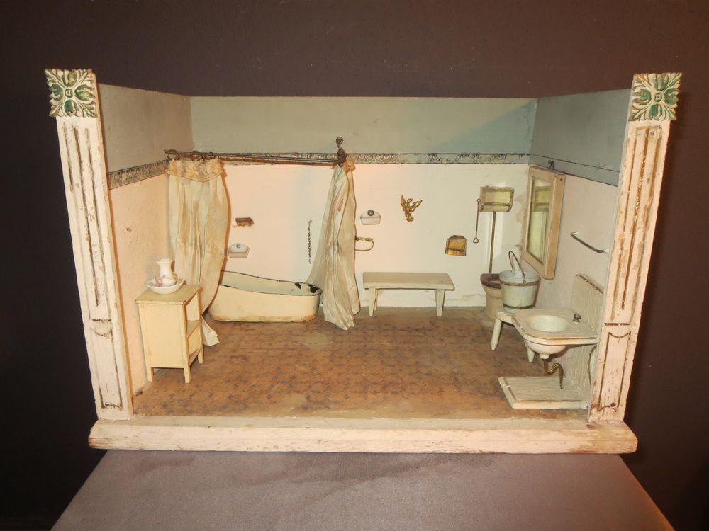Badezimmer Zubehör ~ Antikes moritz gottschalk badezimmer puppenstube mit erhard