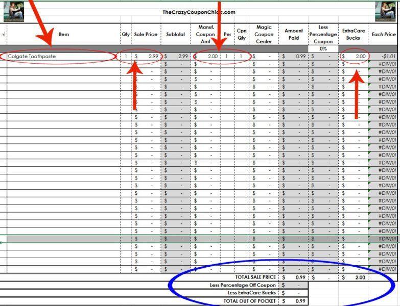 HOT* FREE CVS Shopping List Spreadsheet-Make List Making Easier