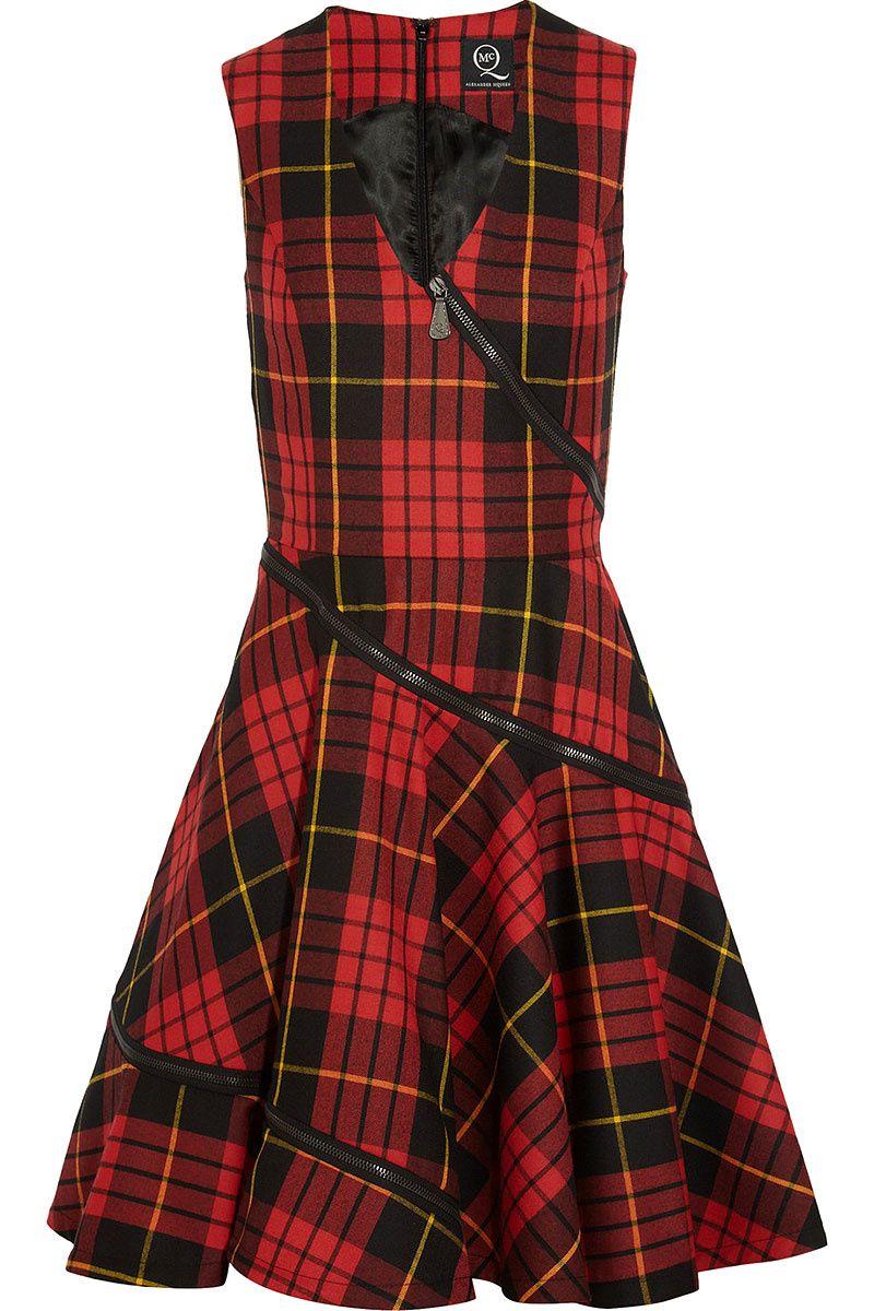 Thank you Alexander mc queen: tartan dress with zip detailing ...
