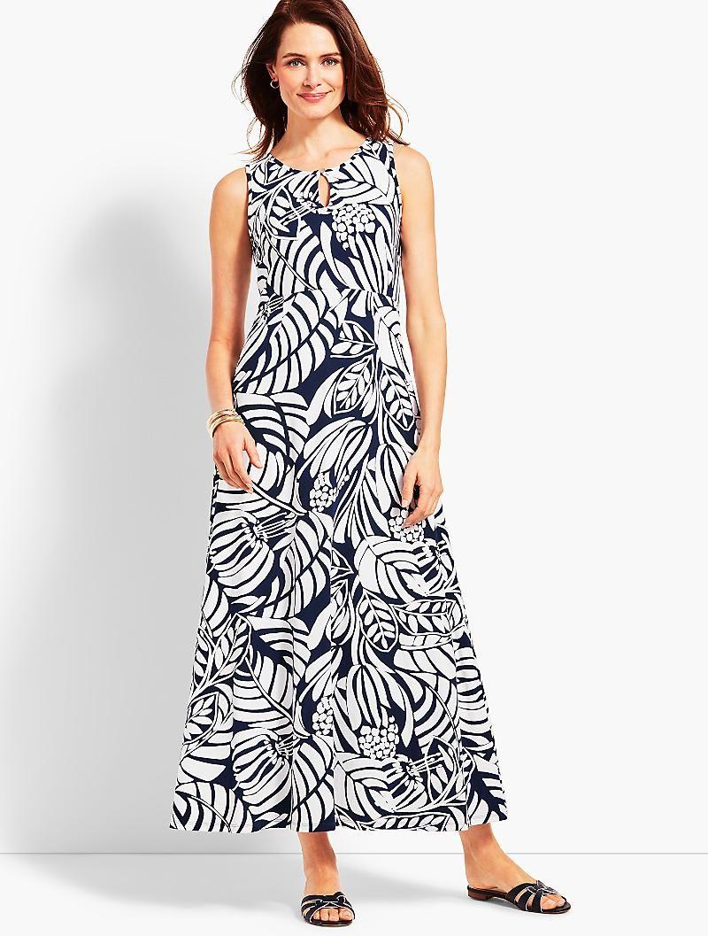 Graphic Botanical Jersey Maxi Dress Talbots Empire Maxi Dress Maxi Jersey Dress Striped Shift Dress [ 1057 x 800 Pixel ]