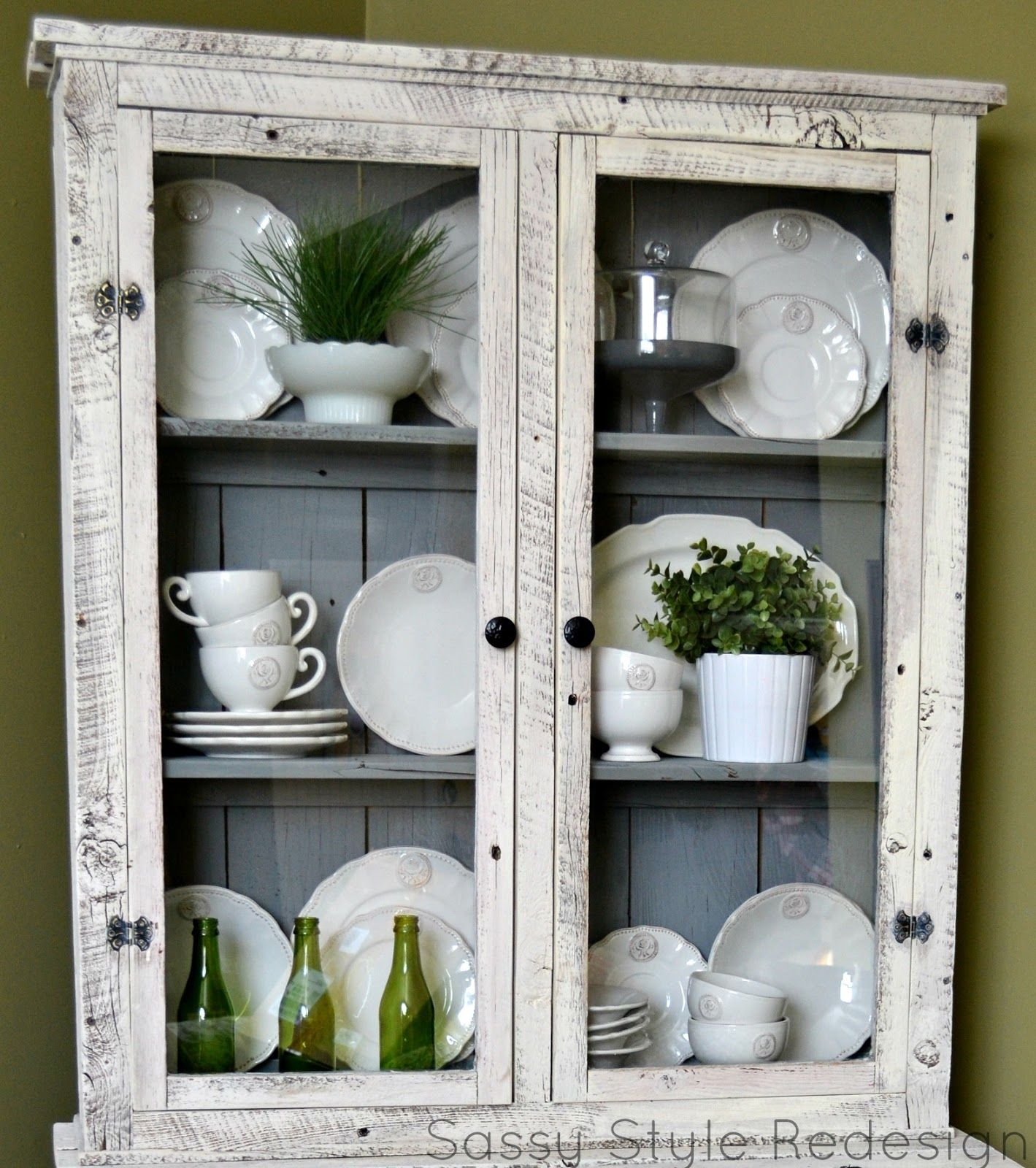 Diy Barnwood Hutch Makeover With Pure White Chalk Paint And