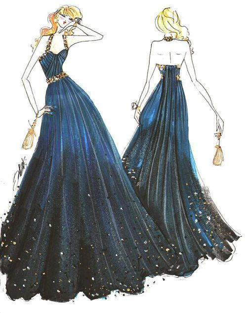 prom dress sketches | figure sketching | Pinterest | Sketches ...