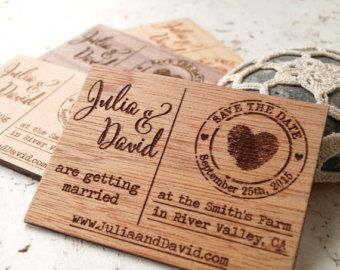 Save The Date Magnet Rustic Dates Magnets Wooden