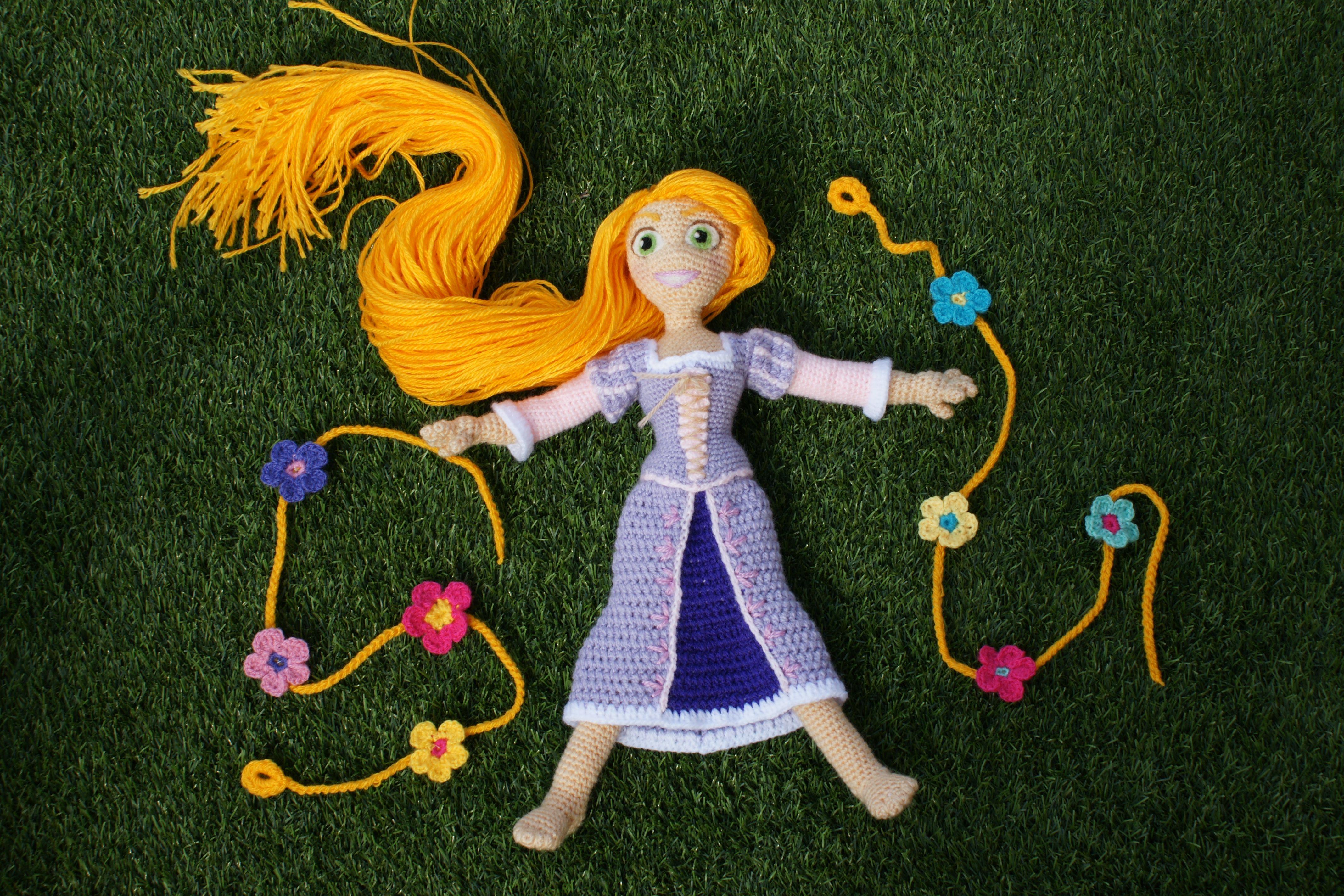 Mi version amigurumi de Rapunzel