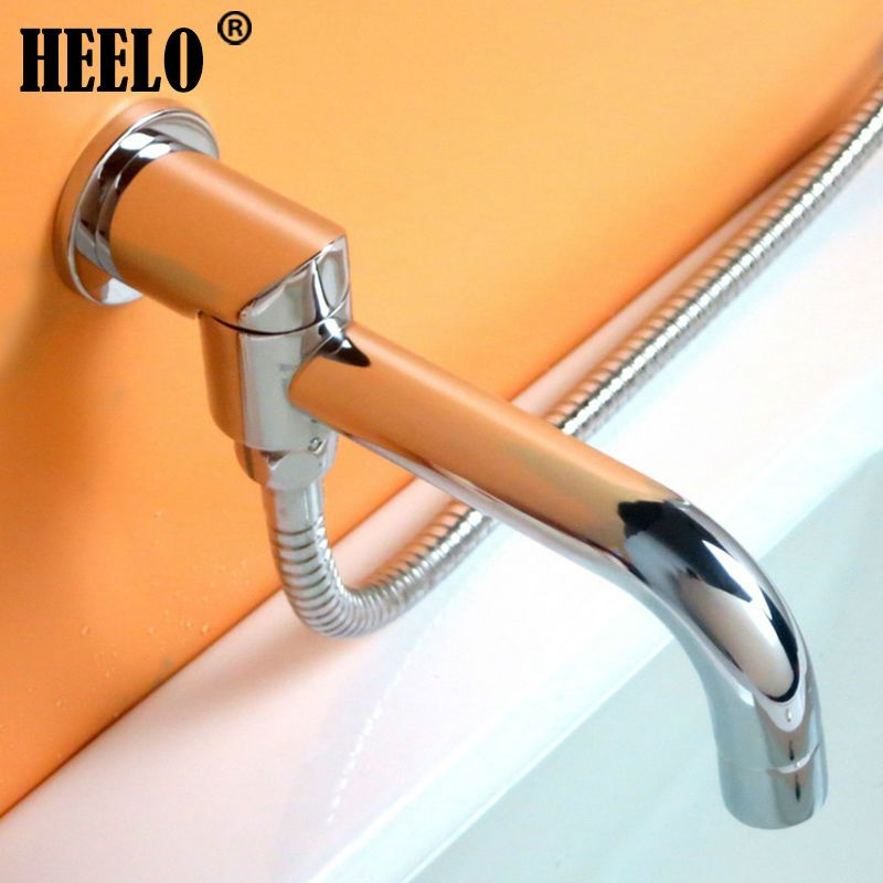 90degree rotating brass in-wall bathroom faucet spout with ...