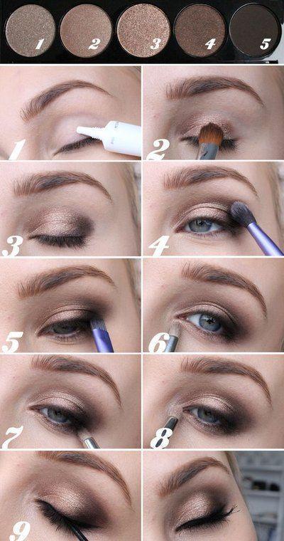 Zarte Schminke des Auges