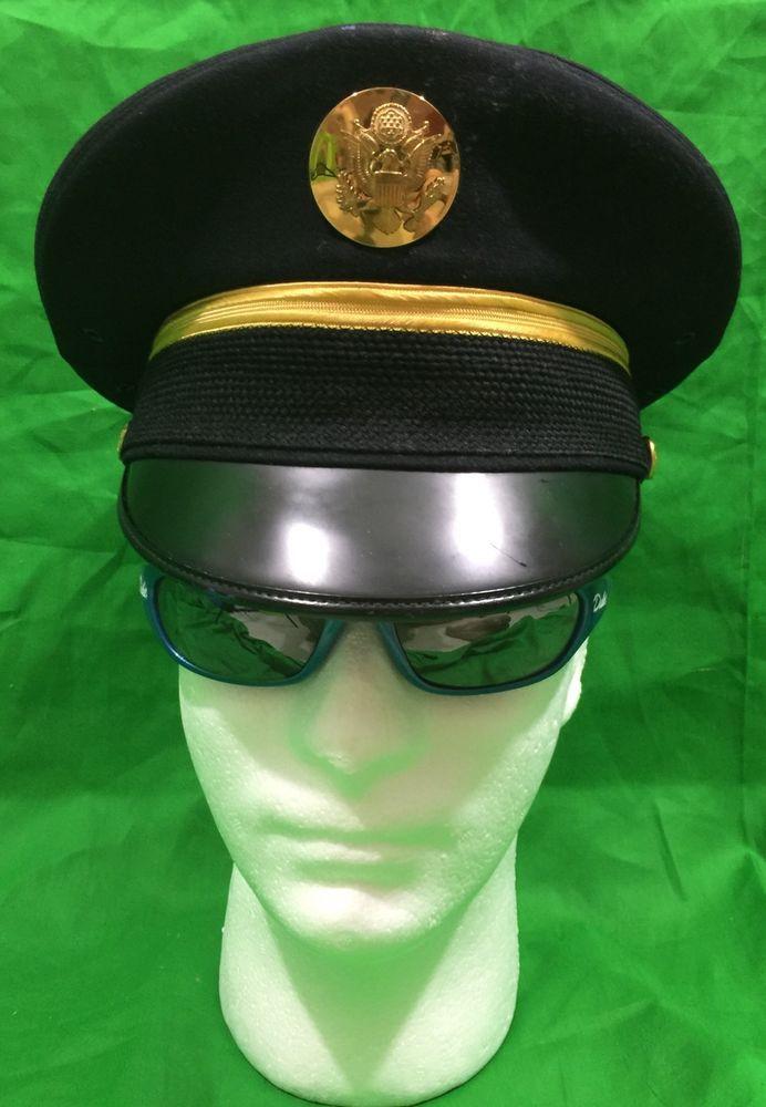 Us Army Enlisted Men S Dress Blues Visor Hat Size 6 7 8 Visor Hats Military Outfit Men Dress