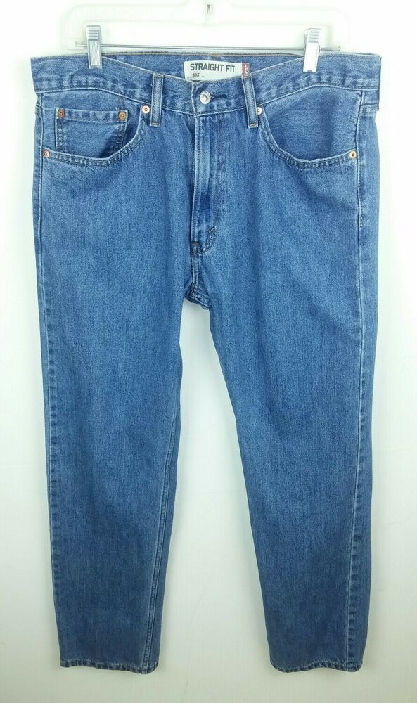 4b0f48ae1ad Levi's Men's Size 34x32 Jeans 505 Straight Fit Medium Blue Wash Cotton Denim  #Levis #Classic