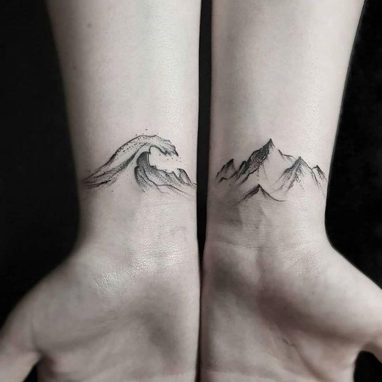 Naturaleza Os Gusta Tattoo Tattoostudios Art Naturaleza Montana Tatuajes Minimalisttattoo Minimaltattoo Pierc Tattoos Friend Tattoos Matching Tattoos