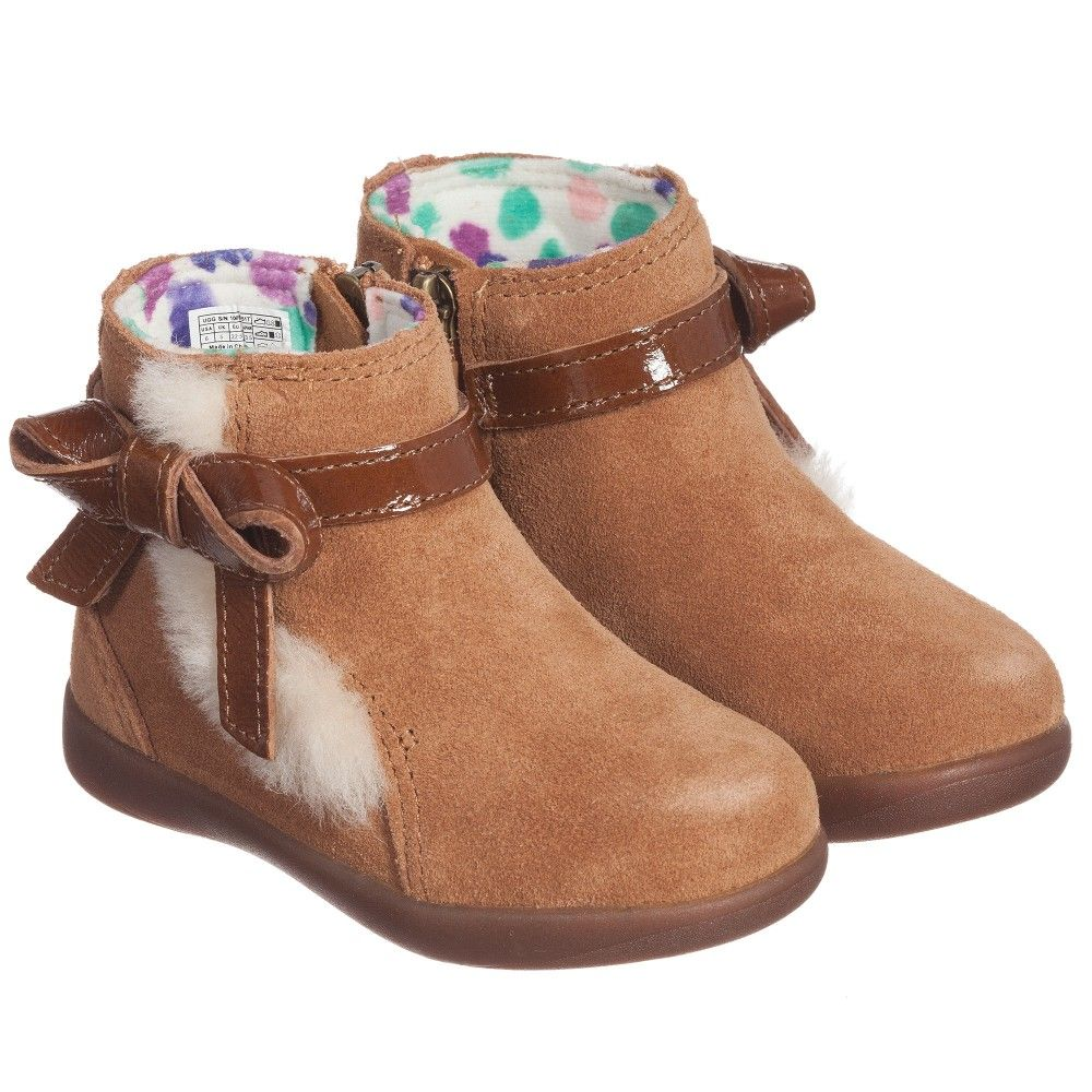 e8e674a2eee Girls Brown Suede 'Libbie' Ankle Boots, Ugg Australia, Girl | Fall ...